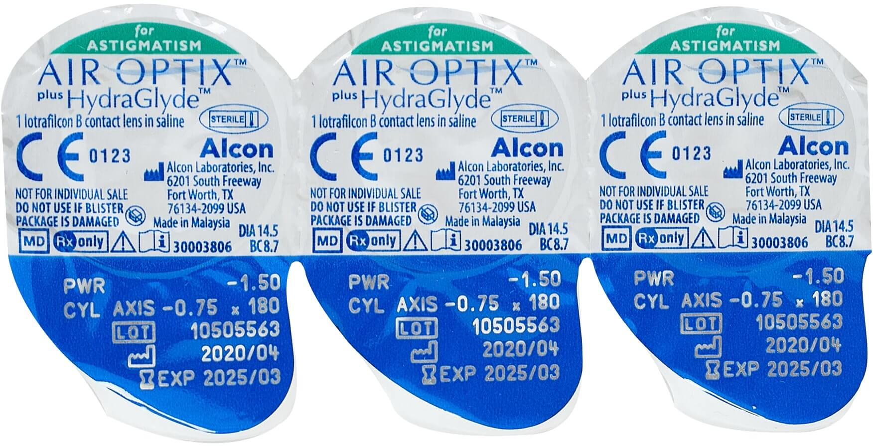 Alcon® AIR OPTIX® FOR ASTIGMATISM